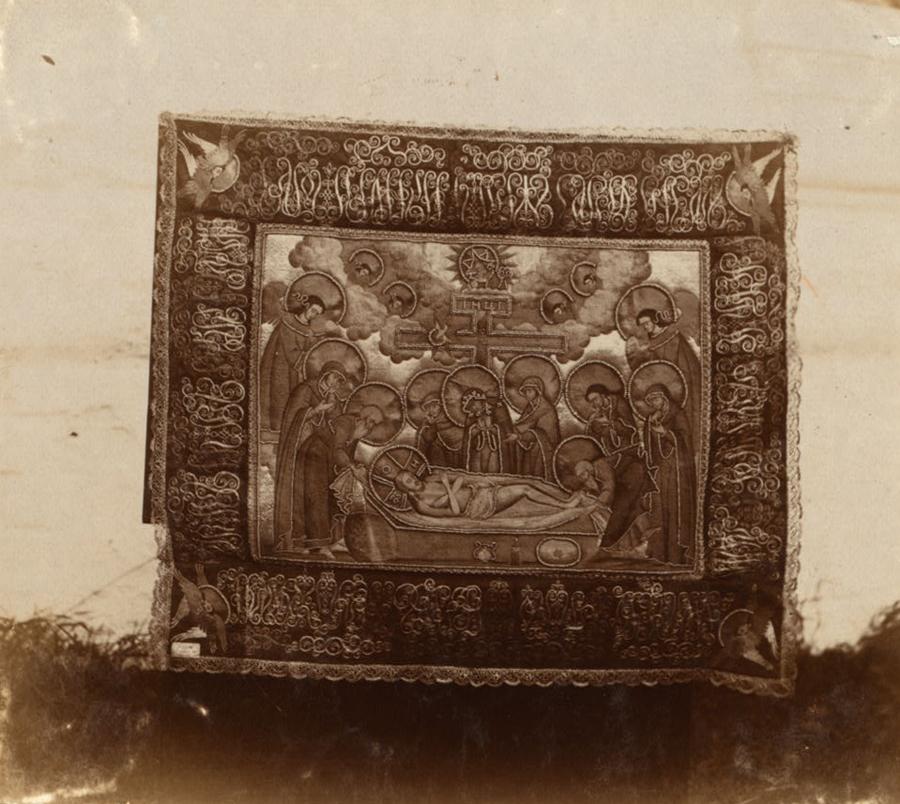 Покров. Дар инокини Марфы. В Благовещенской церкви Макарьевского монастыря. 1910 г.
