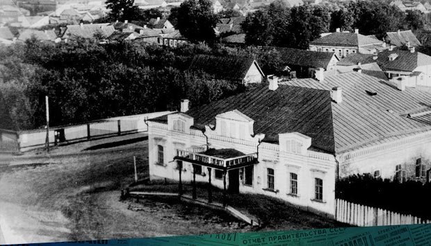 Летний театр в саду Акимова (на месте будущей женской гимназии в Брянске)