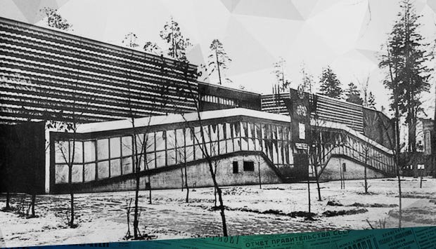 """Кинотеатр """"Октябрь"""" (ныне """"Победа"""") в Бежице 1935-1938 гг."""
