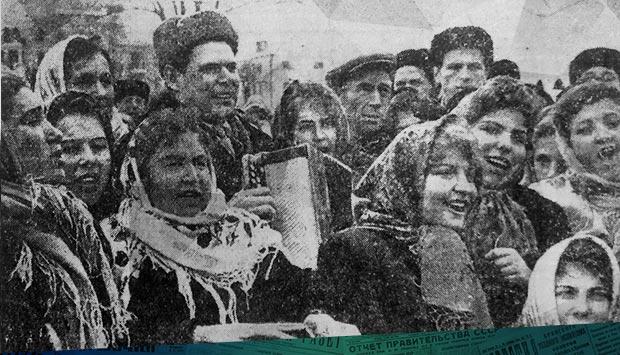 """Первый в Брянске праздник """"Проводы русской зимы"""" 1 марта 1964 г."""