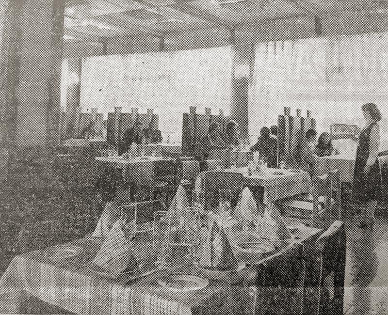 "Обеденный зал ресторана ""Кюстендил"" в Брянске 1984 г."