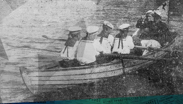 Шлюпочный поход юных моряков о первом в регионе военно-морском кружке и походе по Десне бежицких пионеров в 1938 году